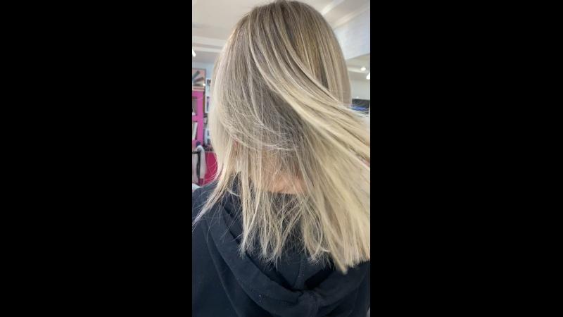 Выход из Тотал блонда в технику Airtouch