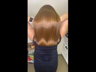 Видео от Petrozavodsk.Кератиновое выпрямление волос.