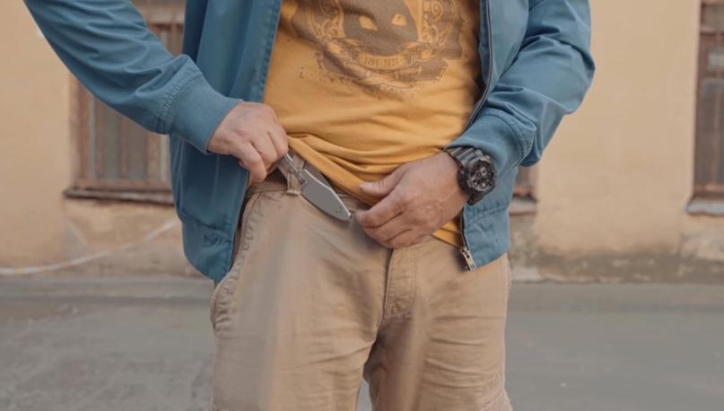 Способы ношения ножа в городе, изображение №2