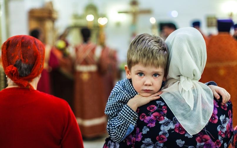 Снопард Виталий «Дети в храме»