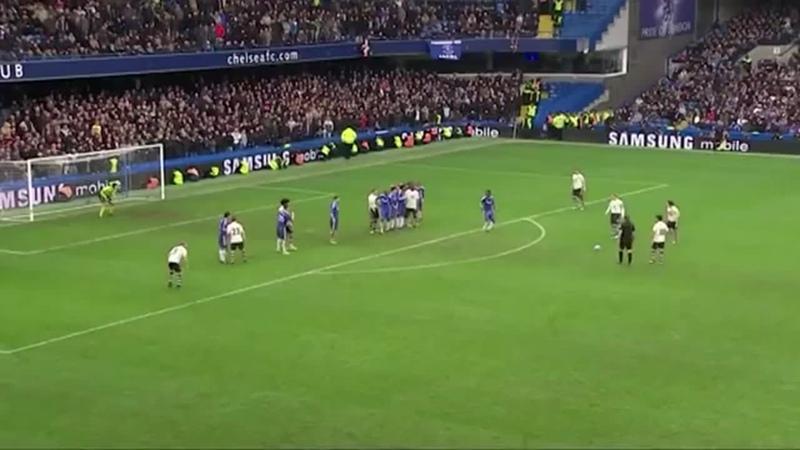 Классный штрафной Бейнса в ворота Челси