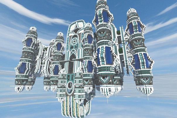 самые крутые постройки в майнкрафте #3