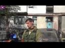 Донецк, 6 октября, 2014 . Ополченец Гиви. Интервью под градом. Аэропорт наш