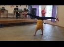 Саша Дементьева с гимнастическим танцем. 2 отряд