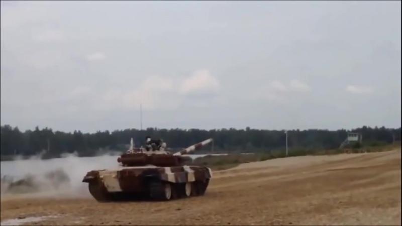 Танковый биатлон 2015 Авария Перевернулся танк Т 72 Б