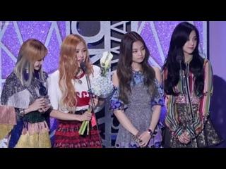 170222 BLACKPINK Song of the Month August speech cut @ Gaon Chart Awards