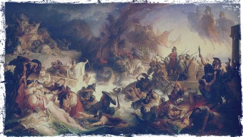 «Битва при Саламине» Вильгельм фон Каульбах