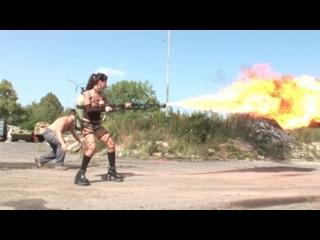 Veronica Zemanova - Flame thrower