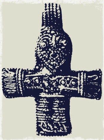 Нательный крест из Бирки