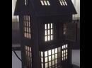 Деревянный домик светильник для любителей Гарри Поттера