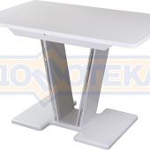 Стол с камнем - Румба ПР-1 КМ 04 БЛ 03-1 БЛ, белый, белый камень