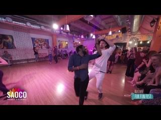 Mihail Denisov and Mambo Brown Salsa Dancing at Rostov For Fun Fest (Russia), Saturday