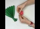 Букет тюльпанов из цветной бумаги💐