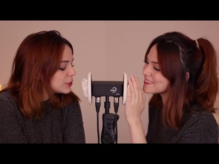 [Maimy ASMR] ASMR TWINS 😴 whispering into your ears (Portuguese & English)
