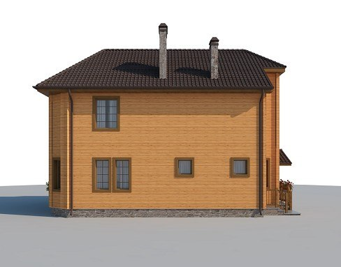 Дом из бруса, площадь дома 180 кв.м