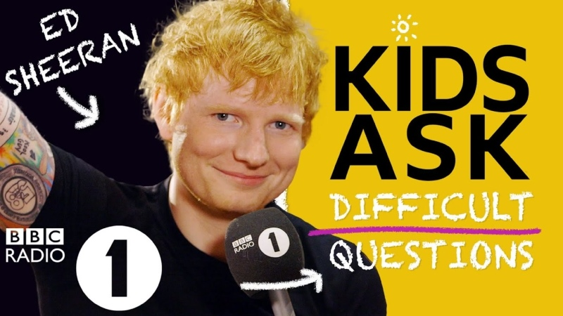 Harry Styles was at that Kids Ask Ed Sheeran Difficult Questions RUS SUB