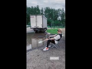 Артур Митин на рыбалке