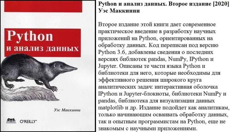 Python и анализ данных. Второе издание [2020] Уэс Маккинни