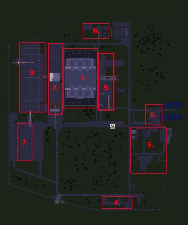 Italian nuclear power plant Latina (centrale nucleare di latina) Minecraft Map