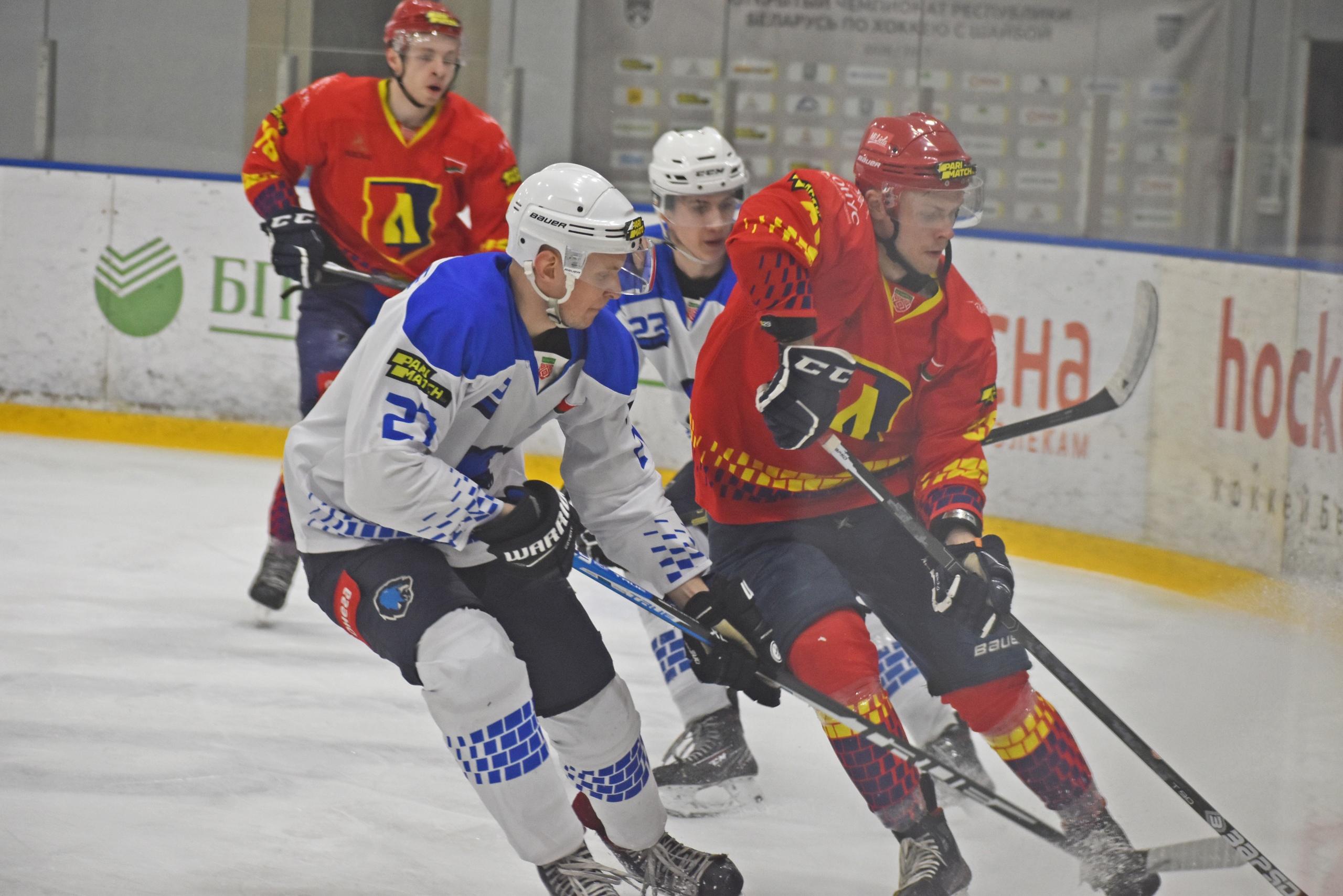 Хоккейный клуб «Лида» в упорной борьбе обыграл «Витебск».