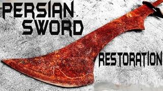 Rusted PERSIAN SWORD - Unbelievable RESTORATION