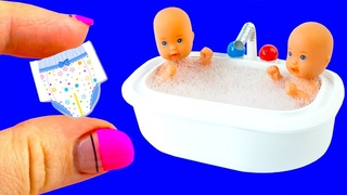 31 DIY Barbie, Baby Hacks and Crafts | Miniature Baby Bath Tub, Bags, Bottles, and more!