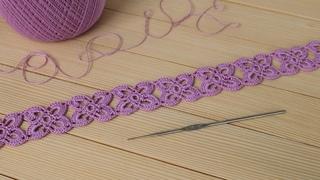 Простое ЛЕНТОЧНОЕ КРУЖЕВО КРЮЧКОМ безотрывным способом вязания МАСТЕР-КЛАСС Easy to Crochet Lace