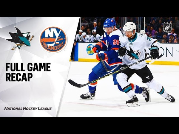 San Jose Sharks vs New York Islanders Feb 23 2020 Game Highlights NHL 2019 20 Обзор матча