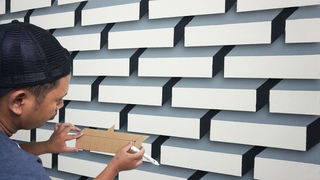 OPTICAL ILLUSION 3D WALL PAINTING IDEAS || 3D WALL ART DECORATION || EFEK CAT TEMBOK 3D