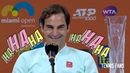 Roger Federer I'm not gonna come back here next year?! HAHAHA - Miami 2019 (HD)