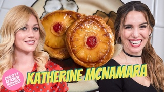 Katherine McNamara MAKES Pineapple Upside Down Pancakes