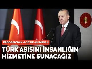 Cumhurbaşkanı, Recep Tayyip Erdoğan, Türk Aşısını insanlığın hizmetine sunacağız