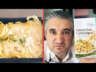 Italian Chef Try FROZEN CARBONARA for the First Time