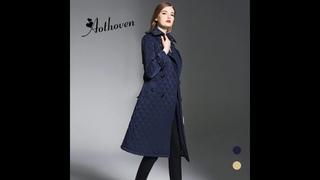 Женское длинное пальто с ромбовидной подкладкой, теплая парка с хлопковой подкладкой, для весны и осени, верхняя одежда