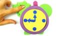 Кинетический песок для детей, лепим часы