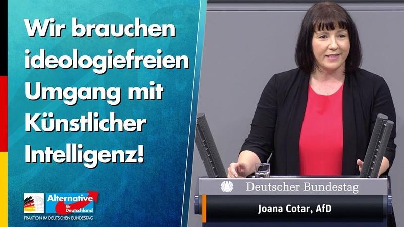 Wir brauchen ideologiefreien Umgang mit Künstlicher Intelligenz Joana Cotar AfD Fraktion