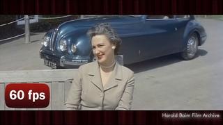 [60 fps] 1950's Irish Fashion Film |  Sybil Connolly 1957 - AI Enhanced