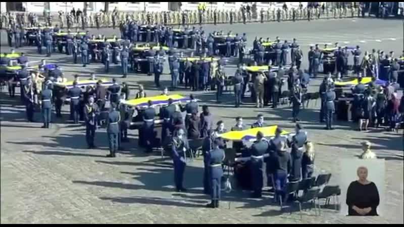 В Харькове сегодня простились с погибшими в авиакатастрофе АН 26 курсантами В Мелитополе прощание с земляками Александром Ско