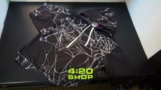 """Стильное худи WEB темно-серого цвета с принтом """"паутина"""" в магазине 4:20 SHOP"""