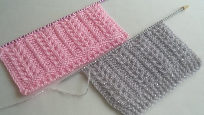 Buğday Başağı Örgü Modeli Yapılışı Yelek Modelleri knitting pattern Strickmuster