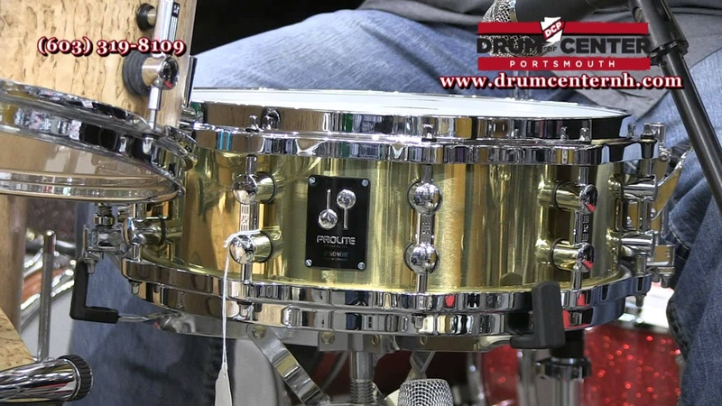 Sonor Prolite Brass Snare Drum 14x5 Cast Hoops