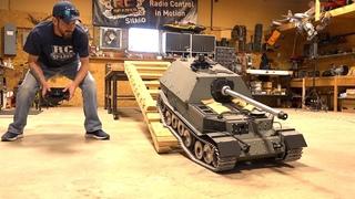 GIANT TANK DESTROYER: FIRST DRIVE! FERDINAND ELEFANT ARMORTEK All Metal 1/6 Scale | RC ADVENTURES
