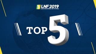 LNF2019 - Top 5 - Gols - 6ª Semana