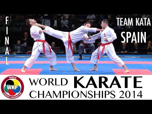 Final Male Team Kata SPAIN 2014 World Karate Championships