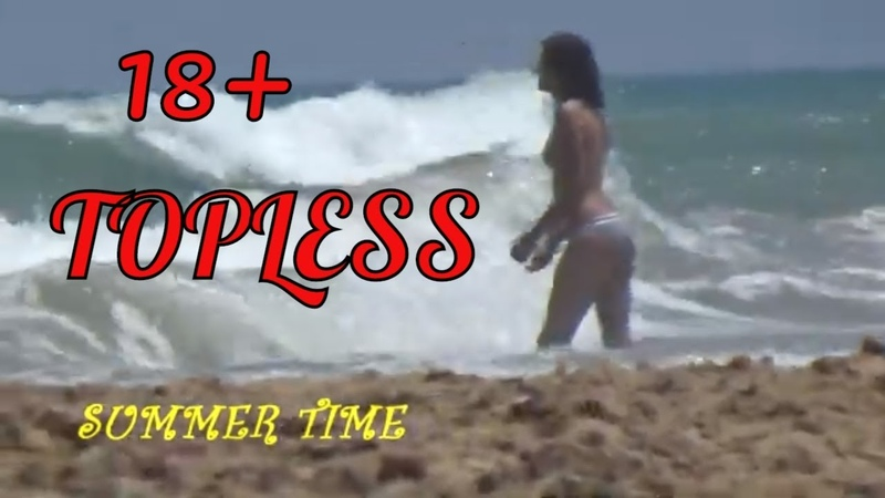 18 Best Beach in Spain Girl Swims Topless Funny Summer Video