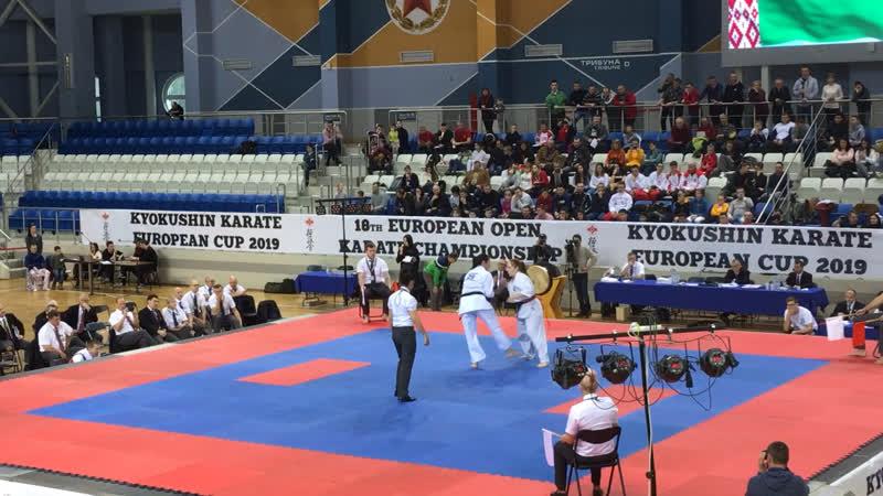 18 European Open Karate Championship. 8.12.2019, Минск. Щербакова Екатерина 1 бой