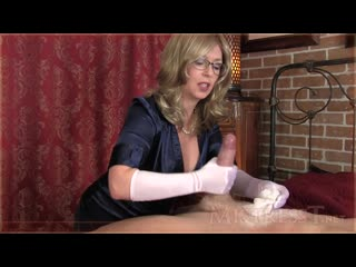 [clips4sale] mistress t - satin glove fetish therapy