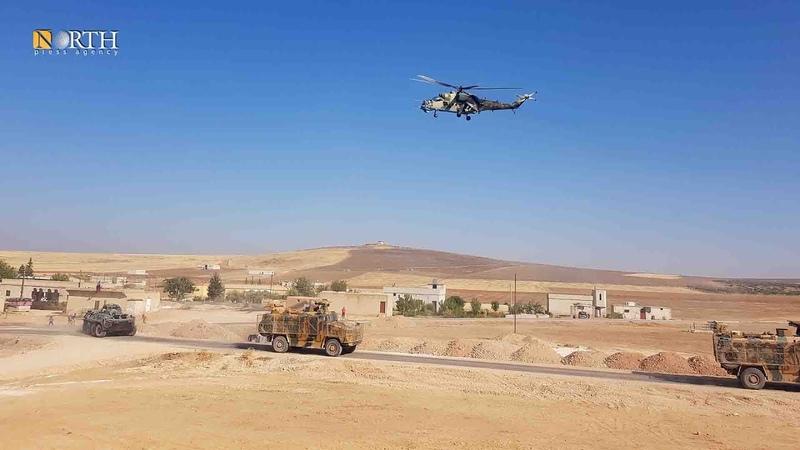 القوات الروسية تسيّر دورية مشتركة مع الجانب التركية في ريف كوباني الغربي - نورث برس