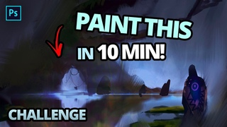 Paint This Concept Art in 10 Minutes!