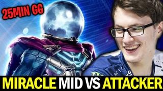 MIRACLE mid vs ATTACKER — 25min GG Arc Warden Boss
